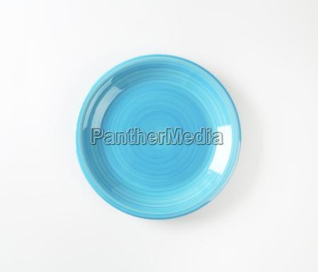 blau objekt einzel gegenstand teller schlicht
