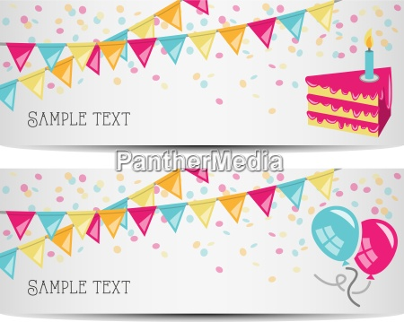 birthday party vector banner