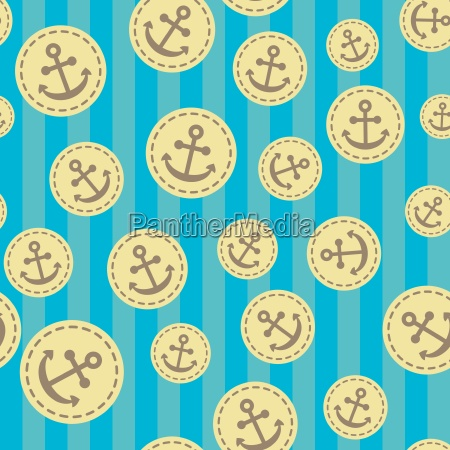 seamless anchor pattern vector background