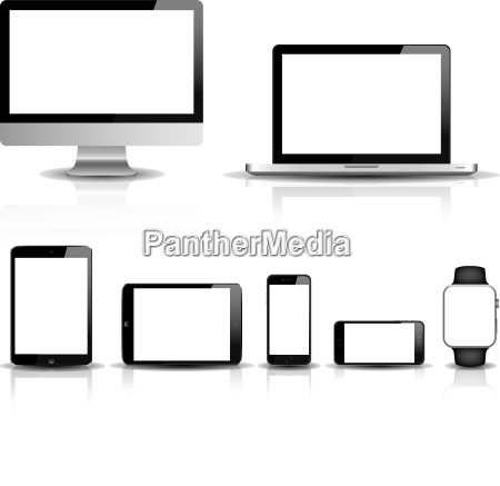responsive web design vector set