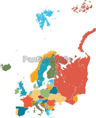 europa karte vektor grafik bunt
