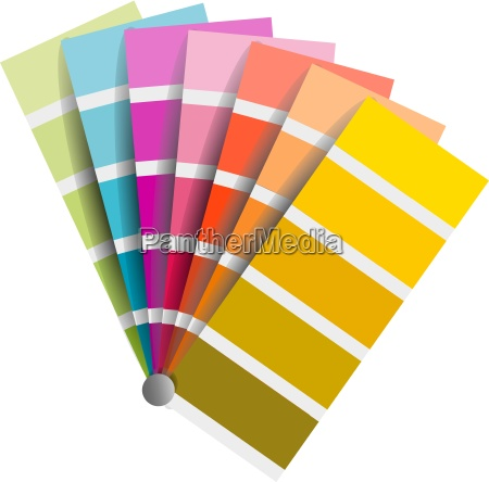 farbfaecher colorful isolated vector