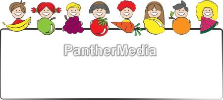 children holding fruit in his hands