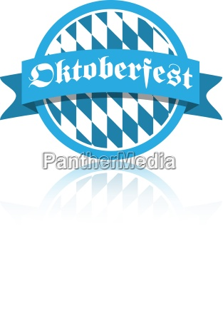 oktoberfest vektor illustration button