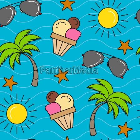 seamless summer pattern background
