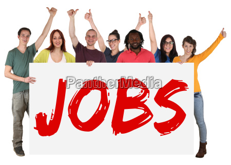 jobs work multicultural group young people