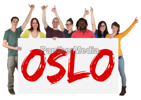 oslo multicultural group of young people