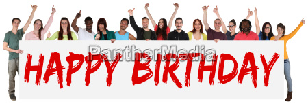 happy birthday birthday multicultural group of