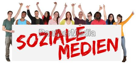 social media networks sign multicultural group