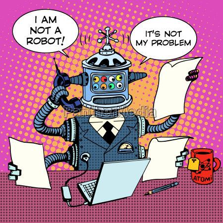 robot secretary on the phone business