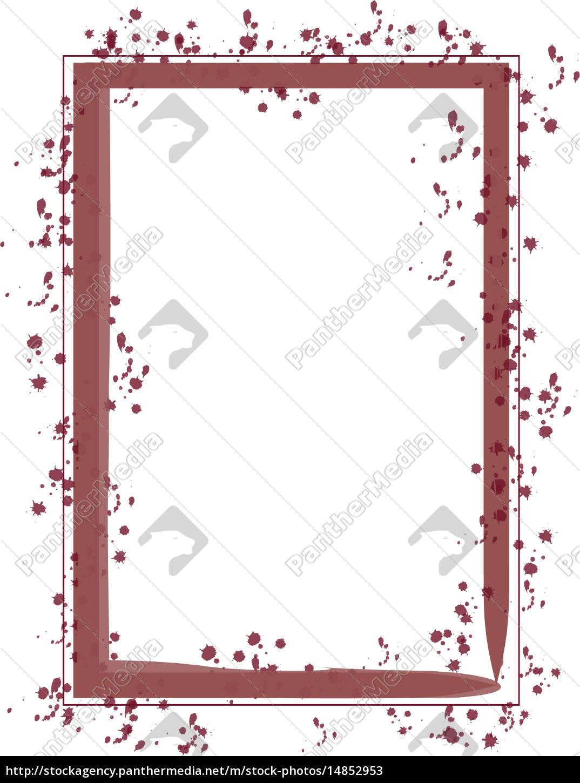 Rahmen Pinsel Strich rot - Lizenzfreies Bild - #14852953 ...