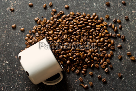 coffee beans on old table