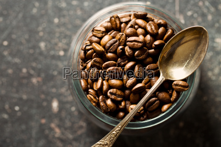 coffee beans and spoon