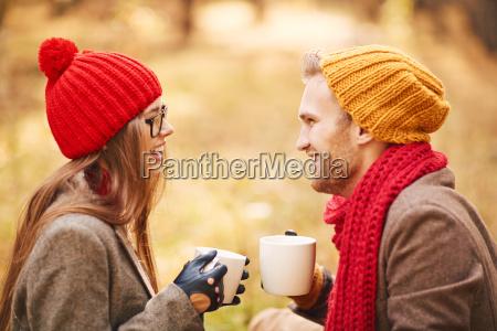 couple with tea