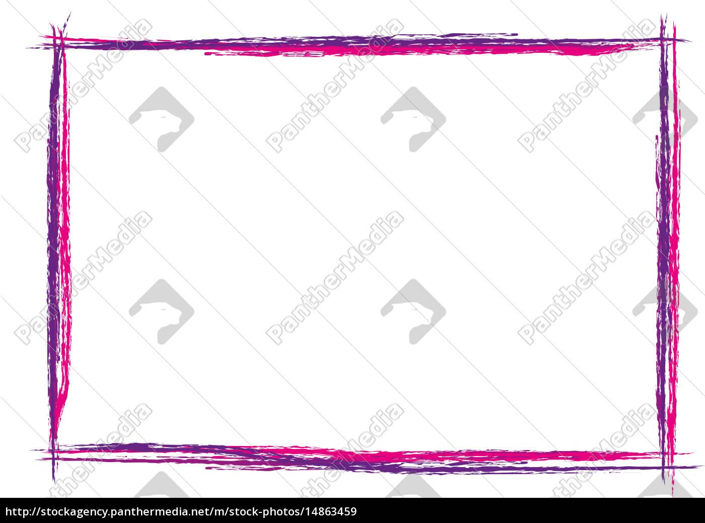 bunter Rahmen quer Strich gemalt - Lizenzfreies Bild - #14863459 ...