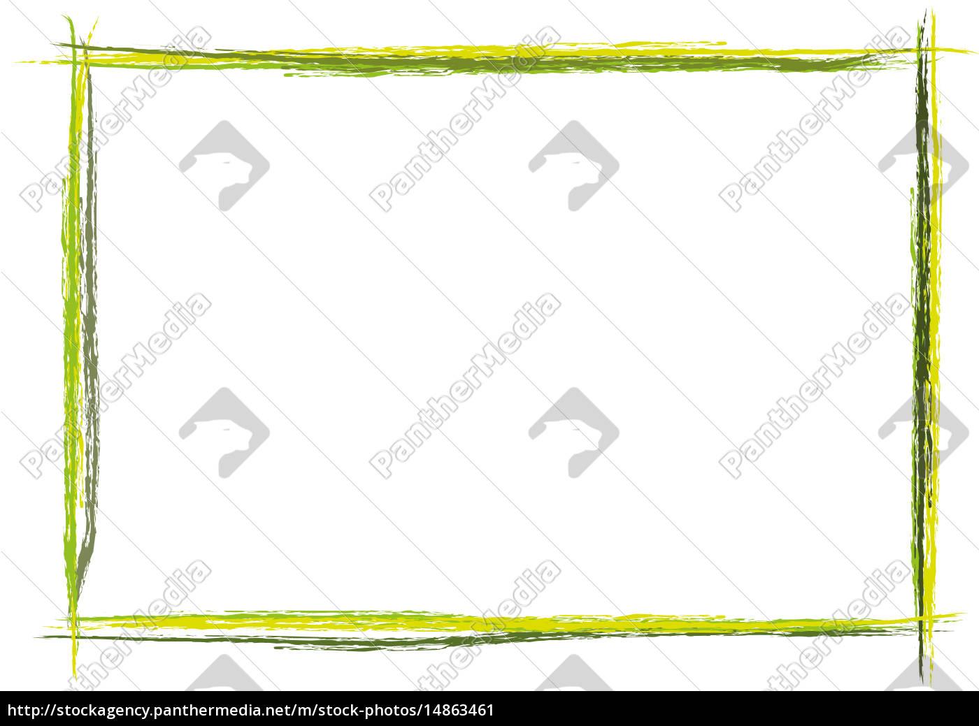 bunter Rahmen quer Strich gemalt - Stockfoto - #14863461 ...
