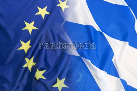 flagge der europaeischen union gegen bayern