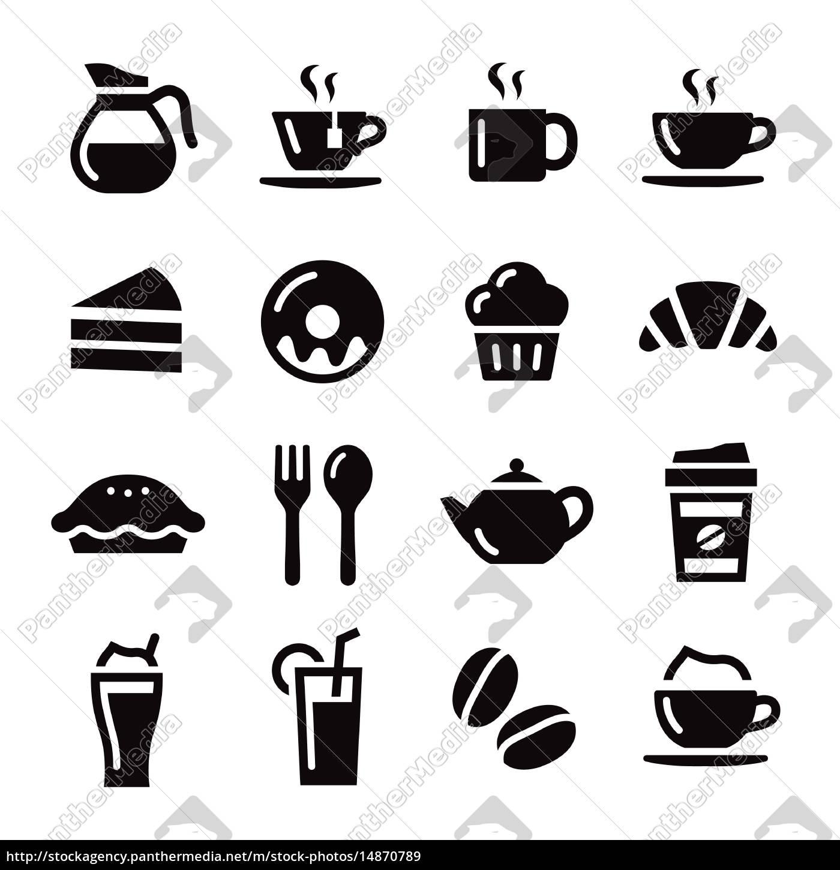 Cafe Icons Lizenzfreies Bild 14870789 Bildagentur Panthermedia