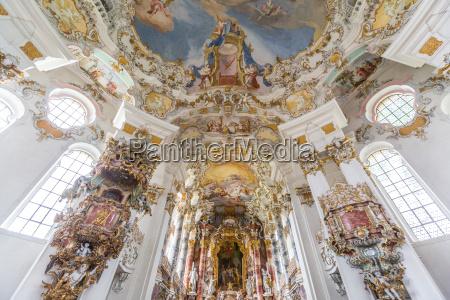 das innere der wallfahrtskirche deutschland