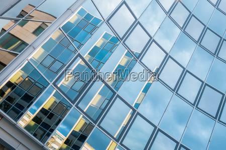 gebäude, mit, fassade, aus, glas - 14873581