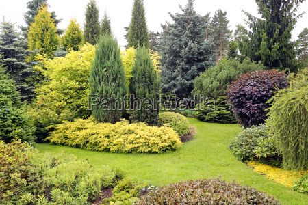 beautiful garden landscape with variety of