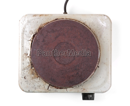 top view of old rusty electric
