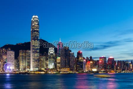 hongkong stadt bei nacht