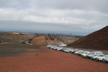 the volcanic area timanfaya