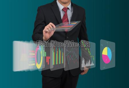 man with digital display