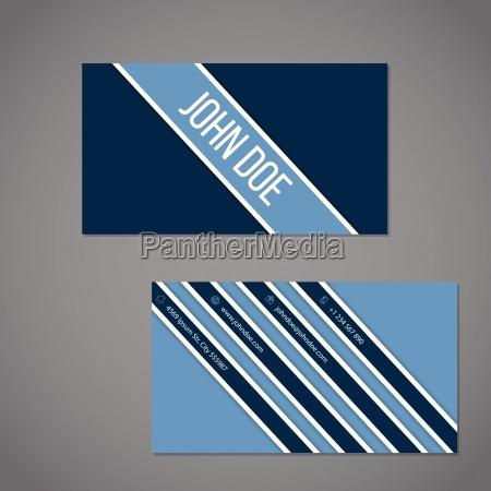 simplistic business card with stripe design
