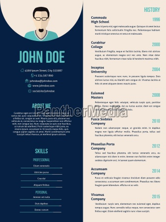new cv resume template