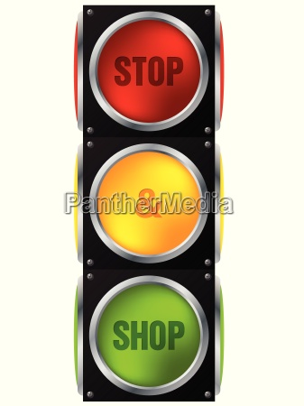 advertisement stop and shop traffic light