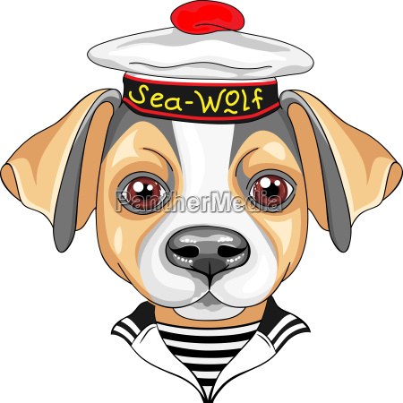 vektor cartoon hund jack russell terrier