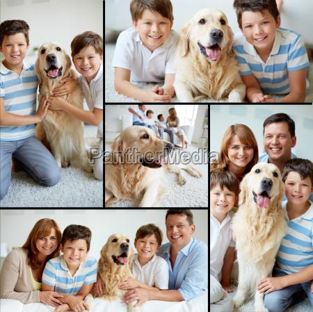 familie mit haustier