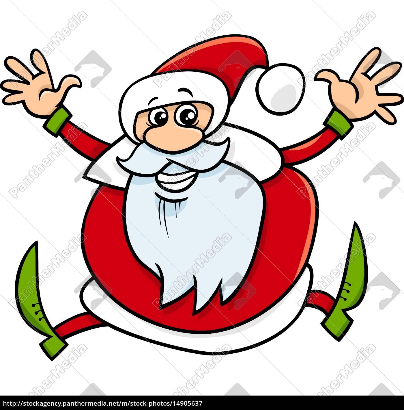 Lizenzfreie Vektorgrafik 14905637 Weihnachtsmann Cartoon Illustration