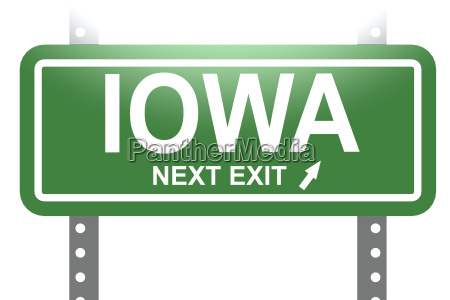 iowa gruenschild isoliert