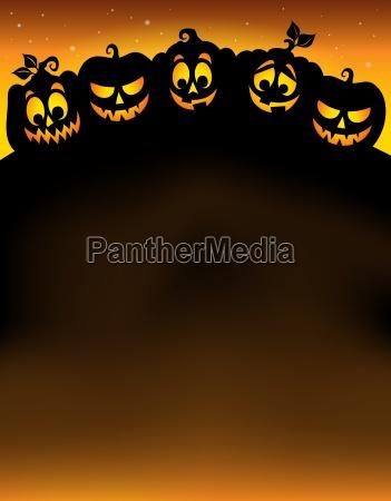 kuerbis silhouetten thema bild 5