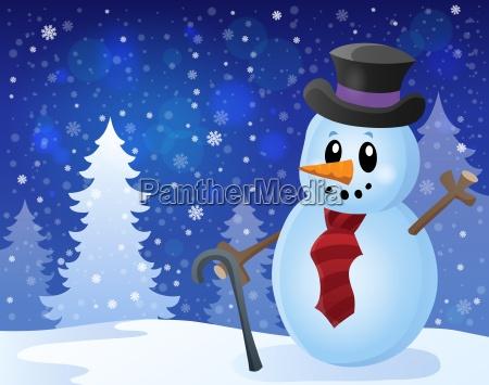 winter snowman topic image 8