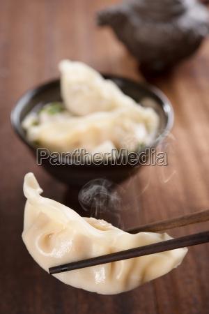 popular asian dish dumplings soup