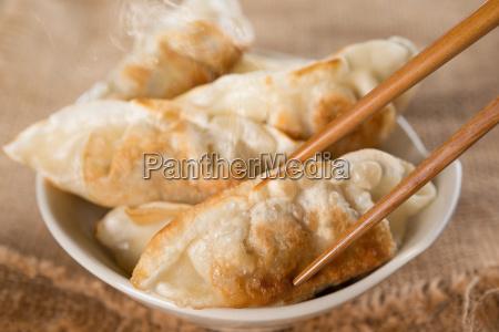 famous asian meal pan fried dumplings