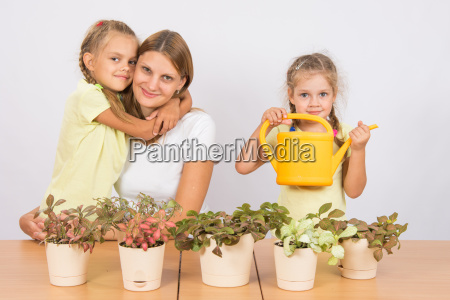 the family loves to grow houseplants