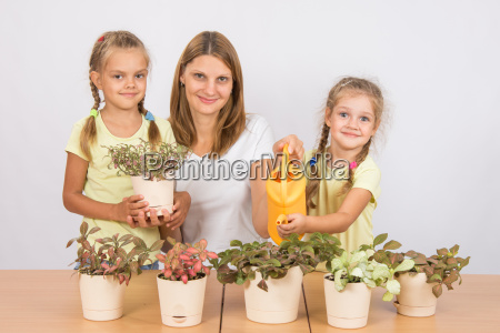 mom and daughter fitton watered from