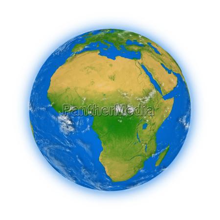 afrika auf dem planeten erde