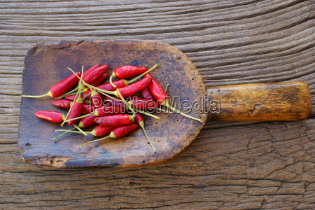 small chili peppers on ancient spice