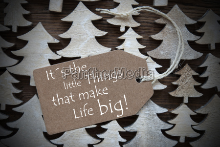 brown christmas label little things make