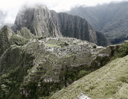 view of the ancient inca city