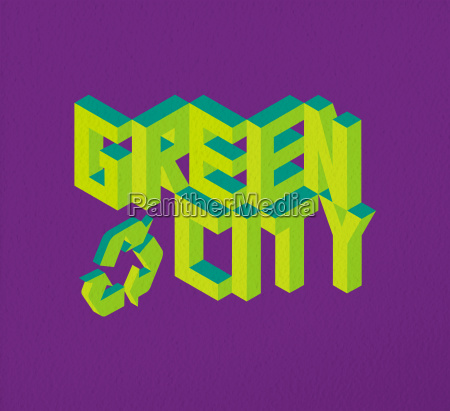 isometric green city quote background