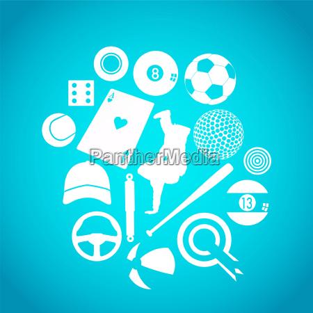 blaue sport ikonen