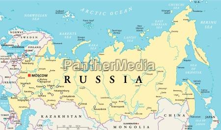 russland politische karte