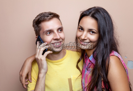 young happy smiling couple